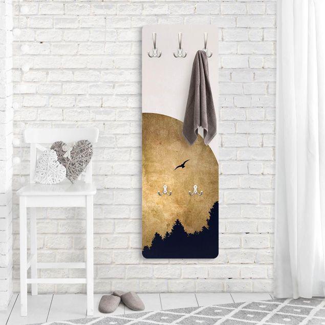Garderobe - Goldmond im Wald