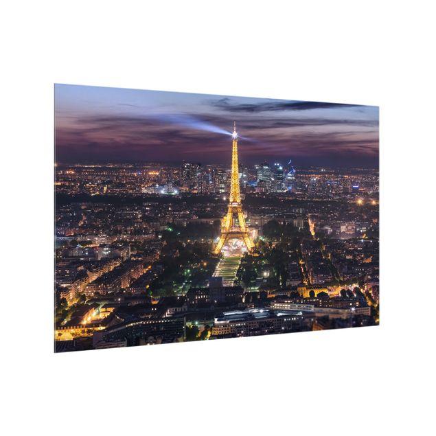 Spritzschutz Glas - Good Night Paris - Querformat 3:2