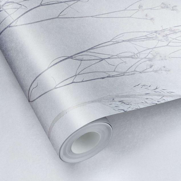 Metallic Tapete - Gräservariationen