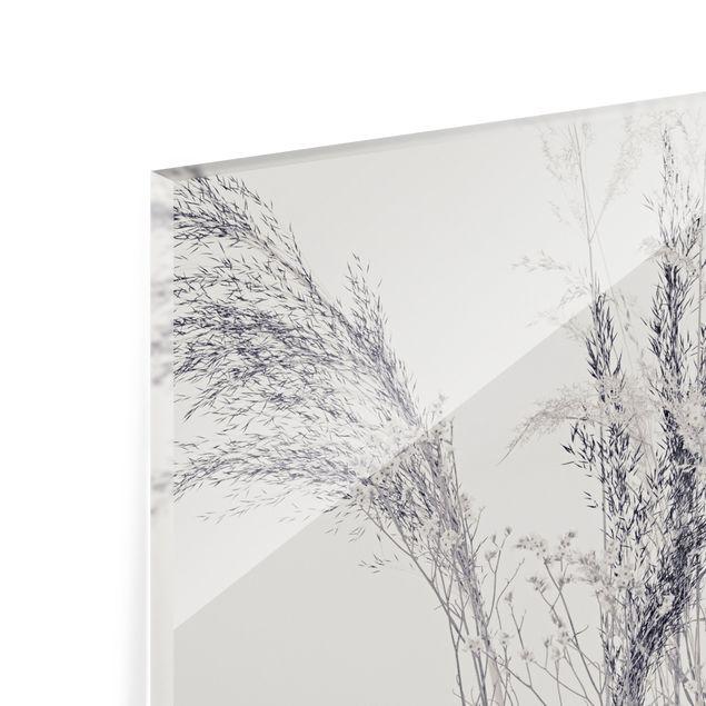 Spritzschutz Glas - Gräservariationen - Querformat 3:2