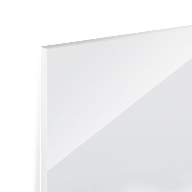 Spritzschutz Glas - Große Welle Hawaii - Quadrat 1:1
