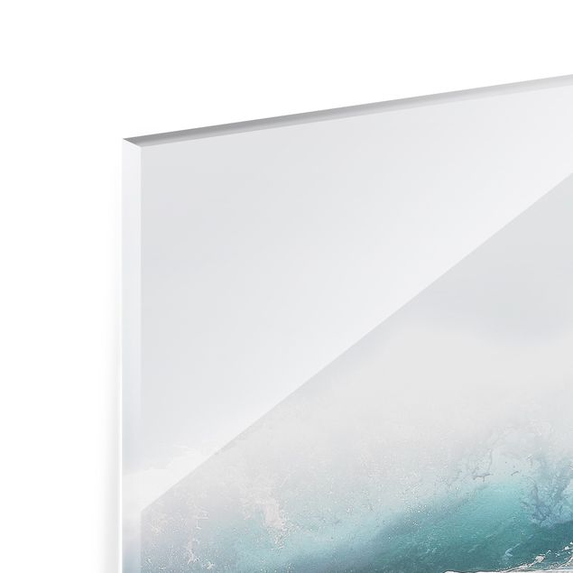 Spritzschutz Glas - Große Welle Hawaii - Querformat 4:3