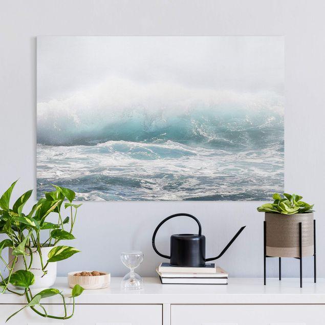 Leinwandbild - Große Welle Hawaii - Querformat 3:2