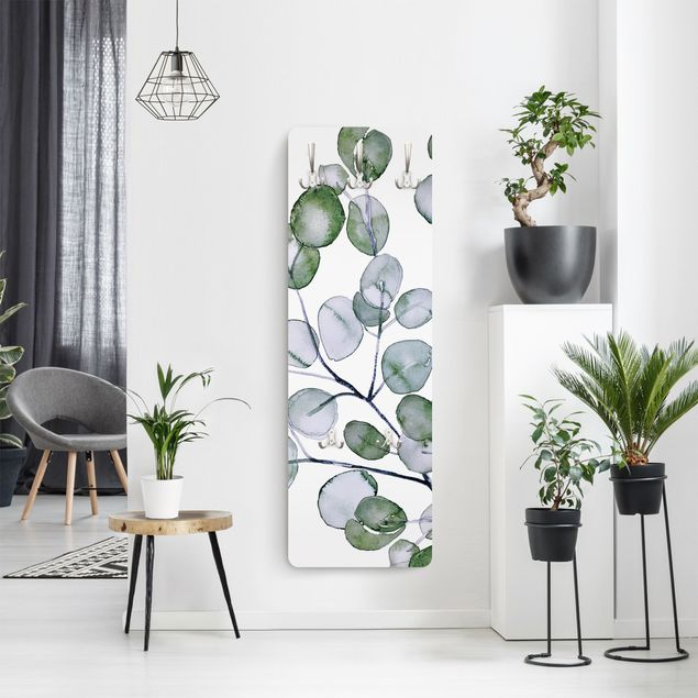 Garderobe - Grünes Aquarell Eukalyptuszweig
