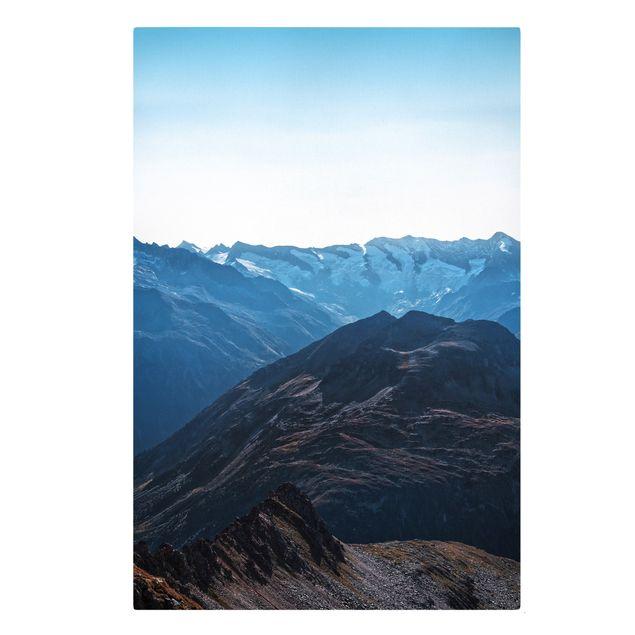 Leinwandbild - Gutes Wetter in den Bergen - Hochformat 2:3
