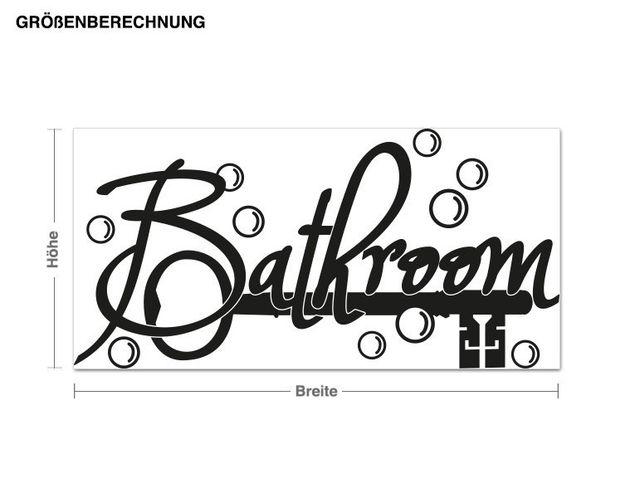 Haken-Wandtattoo Bathroom
