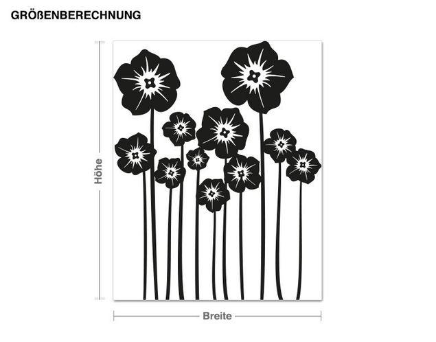 Haken-Wandtattoo Blumenstängel