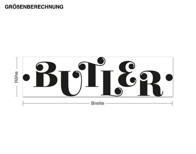 Haken-Wandtattoo Butler