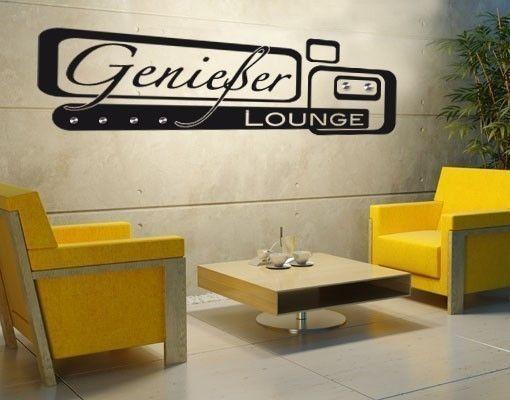 Haken-Wandtattoo Genießer Lounge