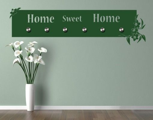Haken-Wandtattoo Home Sweet Home