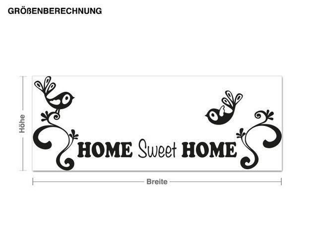Haken-Wandtattoo Home Sweet Home
