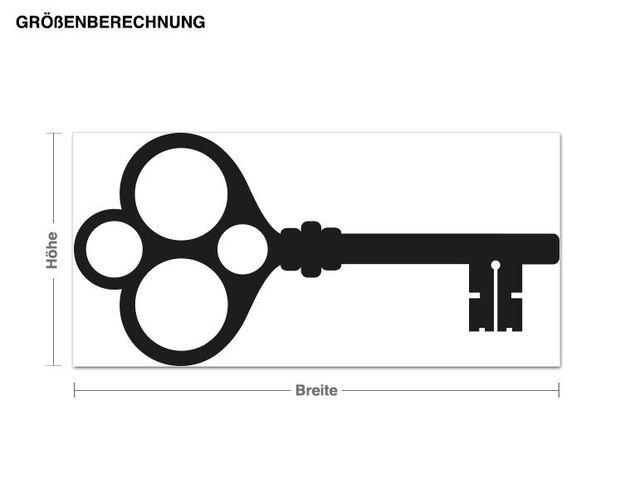 Haken-Wandtattoo Schlüsselrahmen