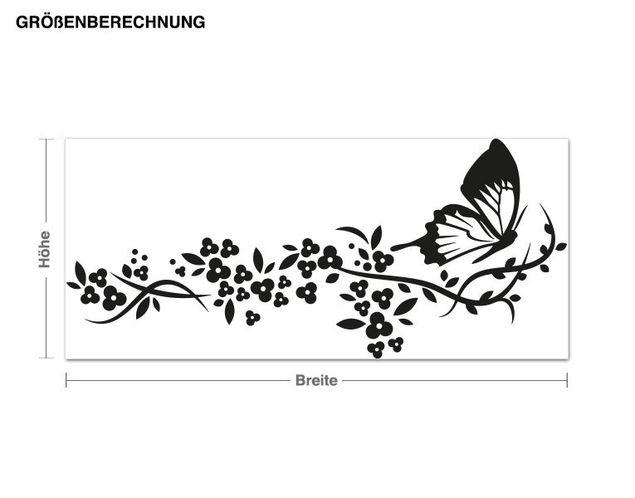 Haken-Wandtattoo Schmetterlingsflug