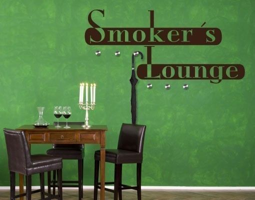 Haken-Wandtattoo Smoker Lounge