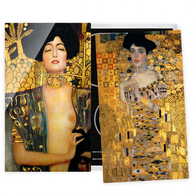 Herdabdeckplatte Glas - Gustav Klimt - Judith und Adele