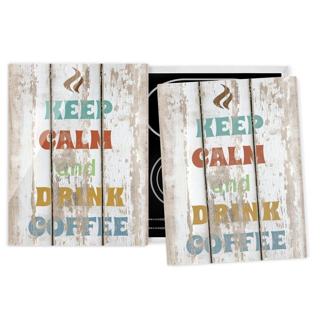 Herdabdeckplatte Glas - No.RS184 Drink Coffee