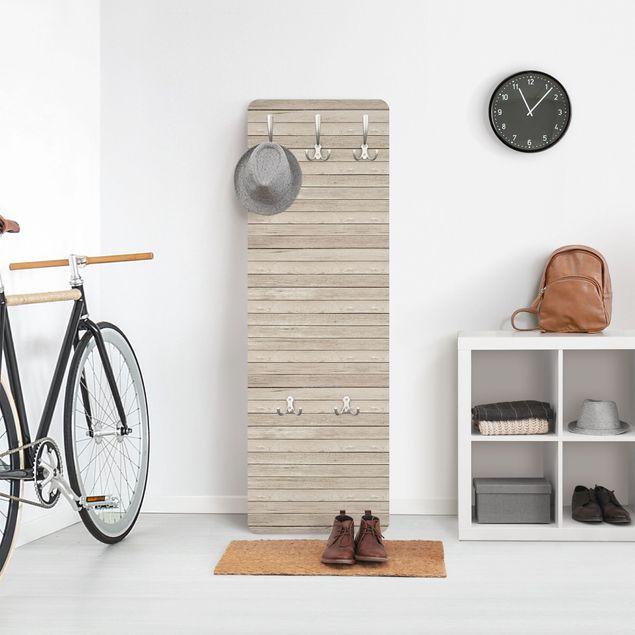 Garderobe - Holzplanken Eiche hell