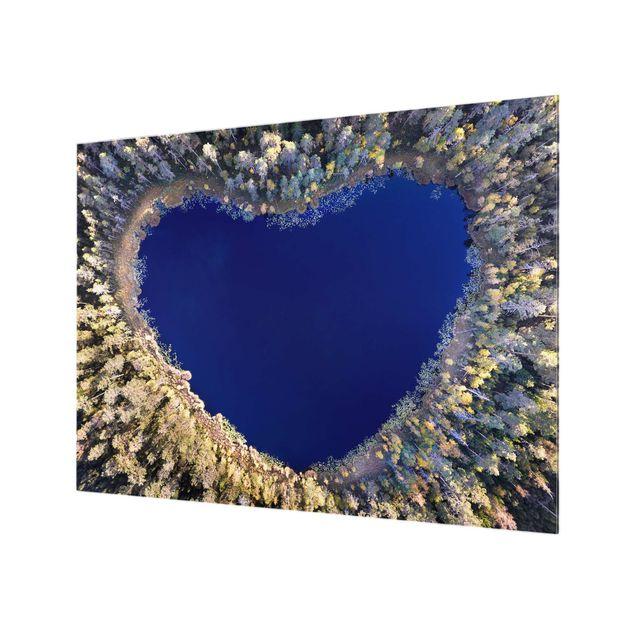 Spritzschutz Glas - Im Herzen des Waldes - Querformat 4:3