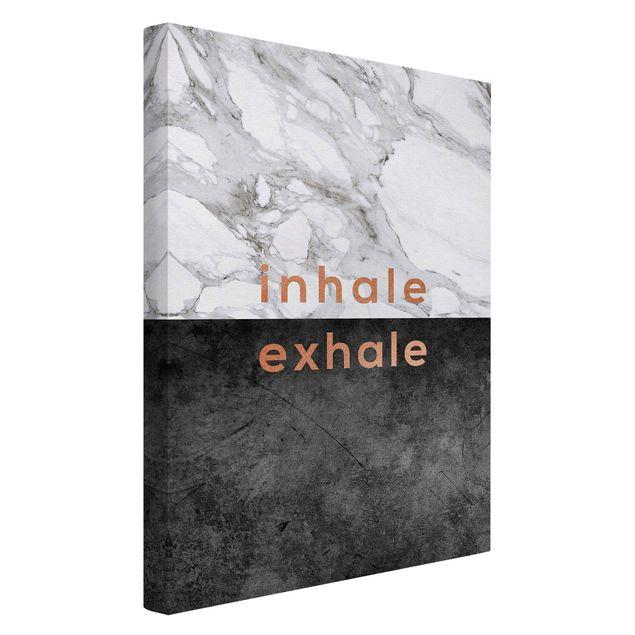 Leinwandbild - Inhale Exhale Kupfer und Marmor - Hochformat 2:3
