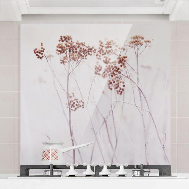 Spritzschutz Glas - Isländische Wildblumen - Quadrat 1:1