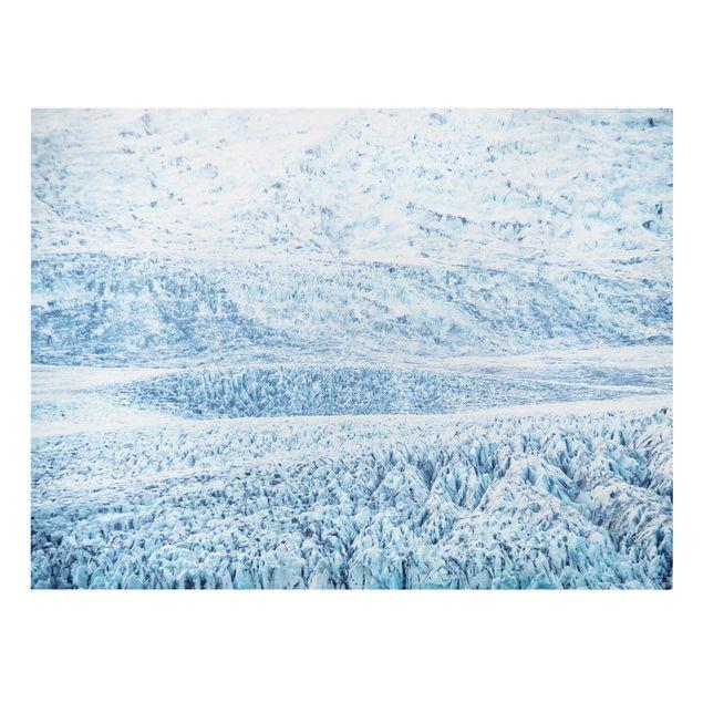 Leinwandbild - Isländisches Gletschermuster - Querformat 4:3