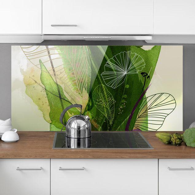 Spritzschutz Glas - Jahreszeiten Frühlingsgrün - Querformat 2:1