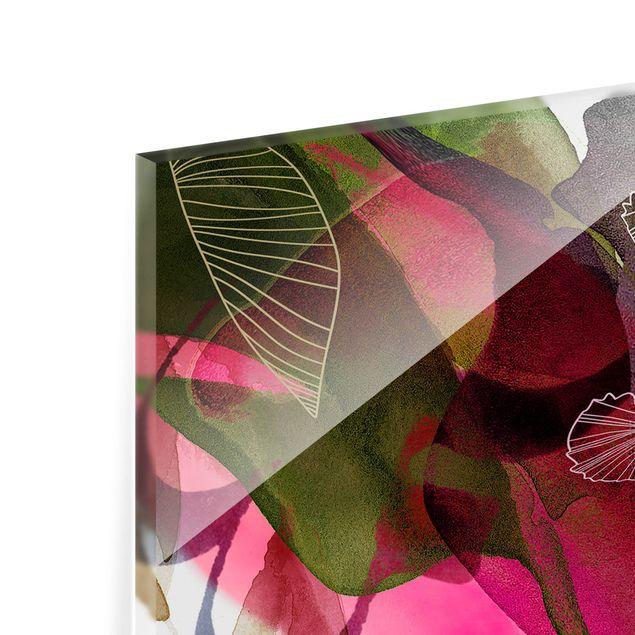 Spritzschutz Glas - Jahreszeiten Herbstrot - Querformat 2:1