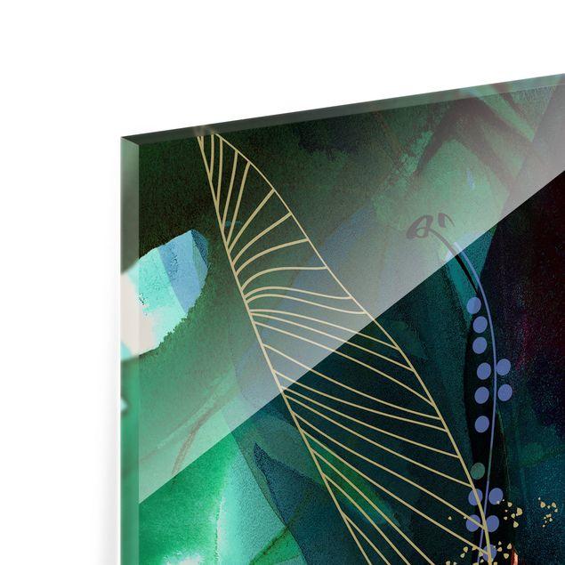 Spritzschutz Glas - Jahreszeiten Türkissommer - Quadrat 1:1