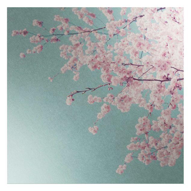 Metallic Tapete - Japanische Kirschblüte