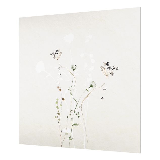 Spritzschutz Glas - Japanisches Ikebana II - Quadrat 1:1