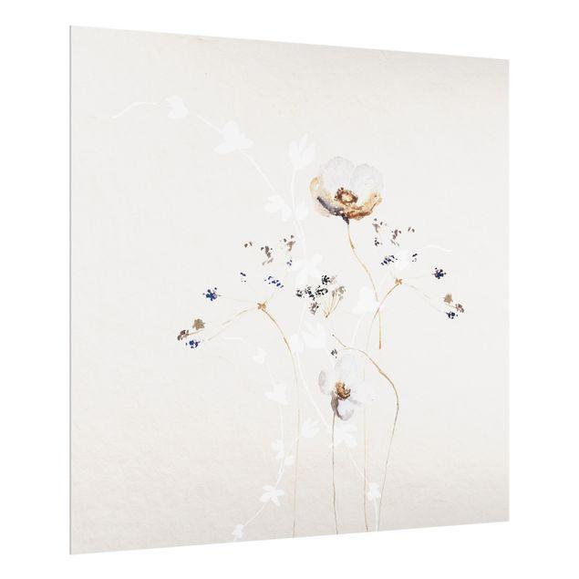 Spritzschutz Glas - Japanisches Ikebana - Quadrat 1:1