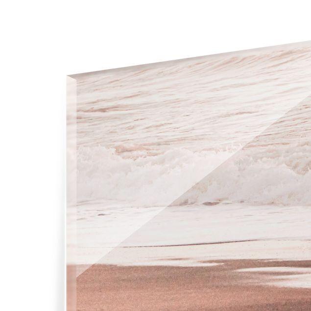Spritzschutz Glas - Kalifornien Sonnenuntergang - Querformat 3:2