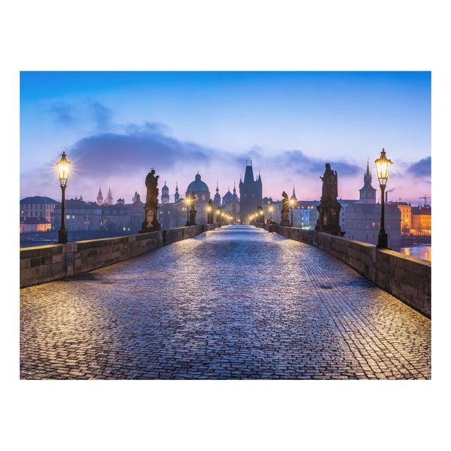 Spritzschutz Glas - Karlsbrücke in Prag - Querformat 4:3