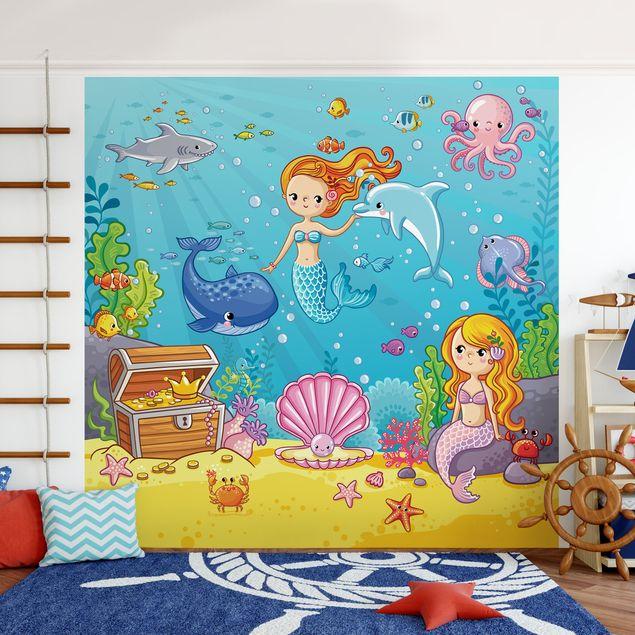 Fototapete Meerjungfrau - Unterwasserwelt