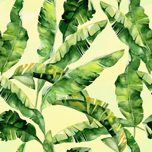 Klebefolie - Bananenblätter Aquarell