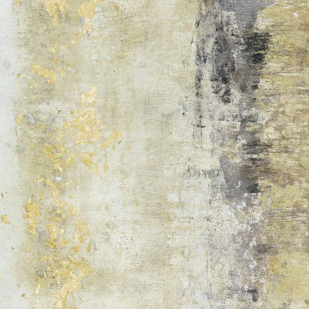 Klebefolie - Goldene Farbfelder I