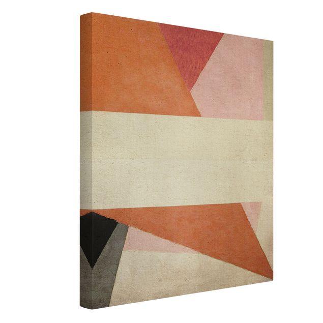 Leinwandbild - Kreuzende Geometrie - Hochformat 3:4