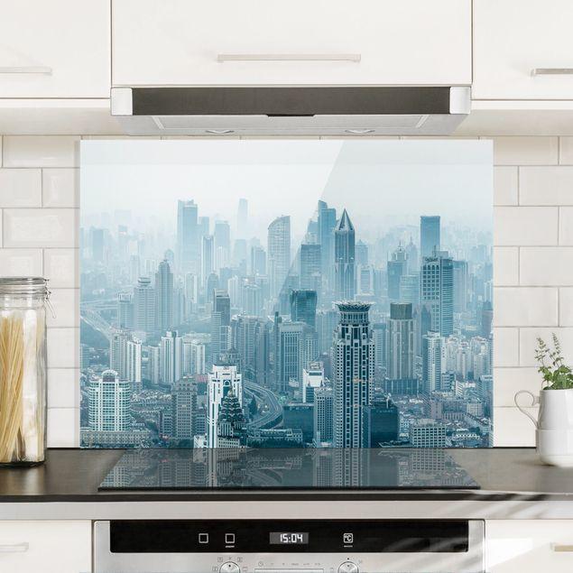 Spritzschutz Glas - Kühles Shanghai - Querformat 4:3