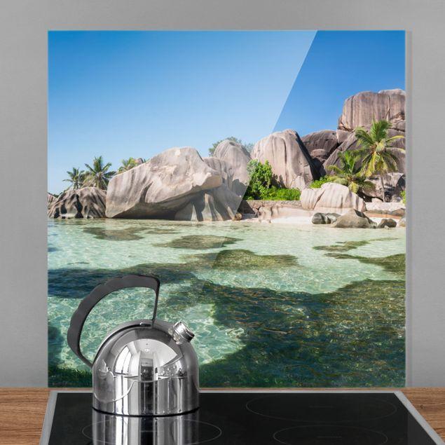 Spritzschutz Glas - La Digue - Quadrat 1:1