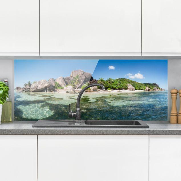 Spritzschutz Glas - La Digue - Panorama 5:2