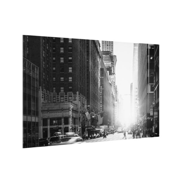 Spritzschutz Glas - Lebhaftes New York - Querformat 3:2
