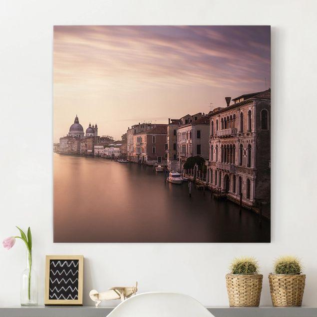 Leinwandbild - Abendstimmung in Venedig - Quadrat 1:1