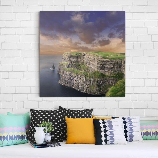 Leinwandbild - Cliffs Of Moher - Quadrat 1:1