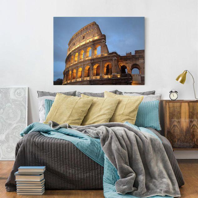 Leinwandbild - Colosseum at Night - Quer 4:3