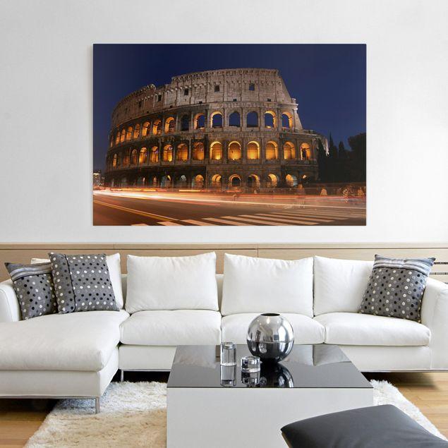 Leinwandbild - Colosseum in Rom bei Nacht - Quer 3:2