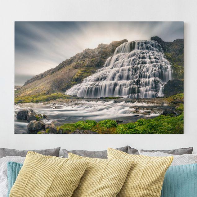 Leinwandbild - Dynjandi Wasserfall - Quer 3:2