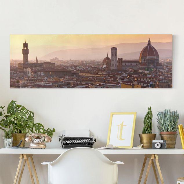 Leinwandbild - Florenz - Panorama Quer