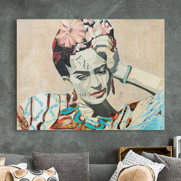 Leinwandbild - Frida Kahlo - Collage No.1 - Querformat 4:3
