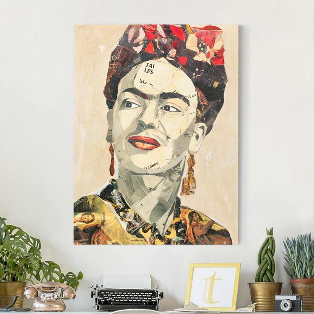 Leinwandbild - Frida Kahlo - Collage No.2 - Hochformat 3:4