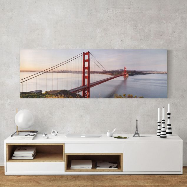 Leinwandbild - Golden Gate Bridge in San Francisco - Panorama Quer